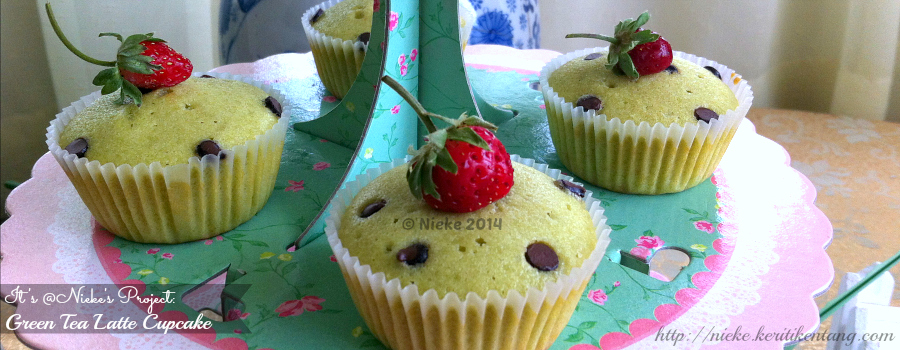 Recipe: Green Tea Latte Cupcake