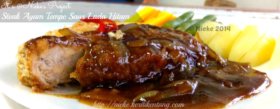 Recipe: Steak Ayam Tempe Saus Lada Hitam